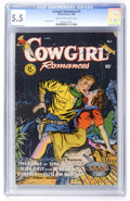 Golden Age (1938-1955):Western, Cowgirl Romances #1 (Fiction House, 1950) CGC FN- 5.5 Cream to off-white pages....
