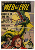 Golden Age (1938-1955):Horror, Web of Evil #4 (Quality, 1953) Condition: VG+....