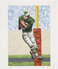 """Football Collectibles:Others, Tommy McDonald Original Artwork for """"Goal Line Art.""""..."""