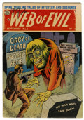 Golden Age (1938-1955):Horror, Web of Evil #6 (Quality, 1963) Condition: VG-....