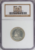 Proof Seated Quarters, 1869 25C PR65 NGC....