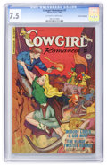 Golden Age (1938-1955):Western, Cowgirl Romances #7 Cosmic Aeroplane pedigree (Fiction House, 1951) CGC VF- 7.5 Off-white to white pages....