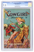 Golden Age (1938-1955):Western, Cowgirl Romances #6 Cosmic Aeroplane pedigree (Fiction House, 1951) CGC VF- 7.5 Off-white to white pages...