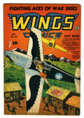 Golden Age (1938-1955):War, Wings Comics #38 (Fiction House, 1943) Condition: FN-....