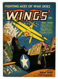 Golden Age (1938-1955):War, Wings Comics #39 (Fiction House, 1943) Condition: VG/FN....
