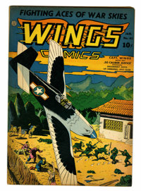 Wings Comics #41 (Fiction House, 1944) Condition: FN/VF
