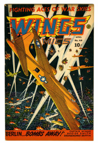 Wings Comics #44 (Fiction House, 1944) Condition: FN/VF