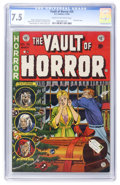 Golden Age (1938-1955):Horror, Vault of Horror #35 (EC, 1954) CGC VF- 7.5 Cream to off-whitepages....