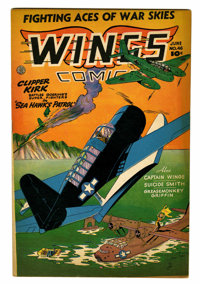 Wings Comics #46 (Fiction House, 1944) Condition: FN+