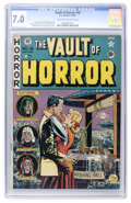 Golden Age (1938-1955):Horror, Vault of Horror #18 (EC, 1951) CGC FN/VF 7.0 Cream to off-whitepages....