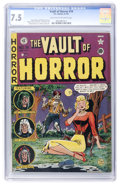 Golden Age (1938-1955):Horror, Vault of Horror #19 (EC, 1951) CGC VF- 7.5 Light tan to off-whitepages....