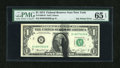 Error Notes:Ink Smears, Fr. 1908-B $1 1974 Federal Reserve Note. PMG Gem Uncirculated 65EPQ.. ...
