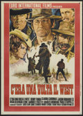 "Movie Posters:Western, Once Upon A Time in the West (Euro International, 1969). Italian 2- Folio (39"" X 55""). Western.. ..."