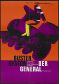 "Movie Posters:Comedy, The General (Atlas, R-1962). German A1 (23"" X 33""). Comedy.. ..."