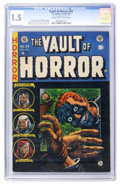 Golden Age (1938-1955):Horror, Vault of Horror #34 (EC, 1954) CGC FR/GD 1.5 Cream to off-whitepages....