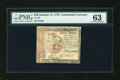 Colonial Notes:Continental Congress Issues, Continental Currency January 14, 1779 $40 PMG Choice Uncirculated63....