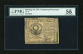 Colonial Notes:Continental Congress Issues, Continental Currency May 10, 1775 $30 PMG About Uncirculated 55....