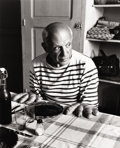 Photography :20th Century , ROBERT DOISNEAU (French, 1912-1994). Les Pains de Picasso, 1952. Gelatin silver, printed later. 20 x 16 inches (50.8 x 4...
