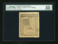 Colonial Notes:Delaware, Delaware January 1, 1776 6s PMG About Uncirculated 55 Net....