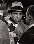 Photography :20th Century , ALFRED EISENSTAEDT (American, 1898-1995). Nazi Propaganda Minister, Joseph Goebbels, Arriving at the Geneva Airport, 193...