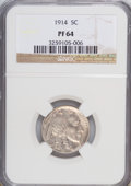 Proof Buffalo Nickels, 1914 5C PR64 NGC....