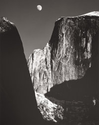 ANSEL EASTON ADAMS (American, 1902-1984) Moon and Half Dome, Yosemite, 1960 Gelatin silver, printed