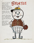 Memorabilia:Miscellaneous, Sheldon Moldoff Sportee Animation Character Concept Booklet (1969).... (Total: 2 Items)