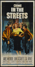 "Movie Posters:Crime, Crime in the Streets (Allied Artists, 1956). Three Sheet (41"" X81""). Crime.. ..."