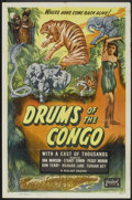 "Movie Posters:Adventure, Drums of the Congo (Realart, R-1947). One Sheet (27"" X 41"").Adventure.. ..."