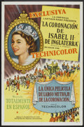 "Movie Posters:Documentary, A Queen is Crowned (Rank, 1953). Spanish One Sheet (27"" X 41""). Documentary.. ..."