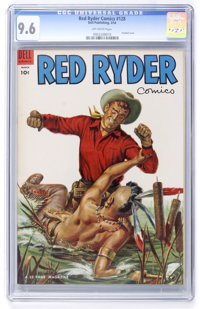 Red Ryder Comics #128 (Dell, 1954) CGC NM+ 9.6 Off-white pages
