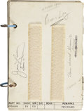 Explorers:Space Exploration, Gemini 12 Flown Prime Log Checklist Directly from the PersonalCollection of Mission Commander James Lovell, Certified and Sig...