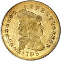 Early Eagles, 1795 $10 13 Leaves MS63 PCGS. CAC....