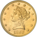 Liberty Eagles, 1855 $10 MS60 NGC....