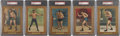 Boxing Cards:General, 1911 T9 Turkey Red Boxers PSA-Graded Group of (5)....