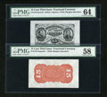 Fractional Currency:Third Issue, Fr. 1274SP/1273-5SP 15c Third Issue Wide Margin Pair PMG Choice Uncirculated 64/ PMG Choice About Unc 58.... (Total: 2 notes)
