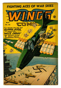 Wings Comics #45 (Fiction House, 1944) Condition: FN-