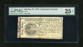 Colonial Notes:Continental Congress Issues, Continental Currency May 10, 1775 $20 PMG Very Fine 25 NET....