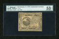 Colonial Notes:Continental Congress Issues, Continental Currency February 17, 1776 $6 PMG About Uncirculated 53EPQ....