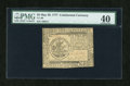 Colonial Notes:Continental Congress Issues, Continental Currency May 20, 1777 $5 PMG Extremely Fine 40....