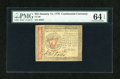 Colonial Notes:Continental Congress Issues, Continental Currency January 14, 1779 $55 PMG Choice Uncirculated64 EPQ....