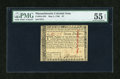 Colonial Notes:Massachusetts, Massachusetts May 5, 1780 $7 PMG About Uncirculated 55 EPQ....