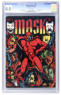 Mask Comics #2 (Rural Home , 1945) CGC VG 4.0 Off-white pages