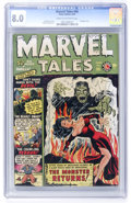 Golden Age (1938-1955):Horror, Marvel Tales #96 (Atlas, 1950) CGC VF 8.0 Cream to off-whitepages....