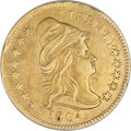 Early Quarter Eagles, 1804 $2 1/2 14 Star Reverse--Damaged, Cleaned--ANACS. AU50Details....
