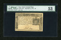 Colonial Notes:New York, New York September 2, 1775 $5 PMG About Uncirculated 53....