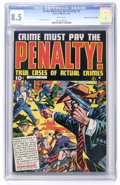 Golden Age (1938-1955):Crime, Crime Must Pay the Penalty #3 Mile High pedigree (Ace, 1948) CGC VF+ 8.5 White pages....