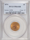 Proof Indian Cents, 1874 1C PR66 Red and Brown PCGS....