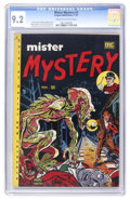 Golden Age (1938-1955):Horror, Mister Mystery #2 (Aragon Magazines, Inc., 1951) CGC NM- 9.2 Creamto off-white pages....