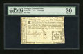 Colonial Notes:Georgia, Georgia 1776 Sterling Issue 5s PMG Very Fine 20....